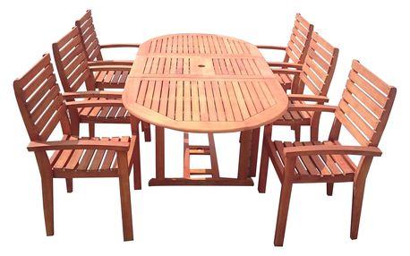 Viet S eukalyptový set 1+6 s certifikátem FSC - VÝPRODEJ (Zahradní nábytek dřevěný eukalyptus)