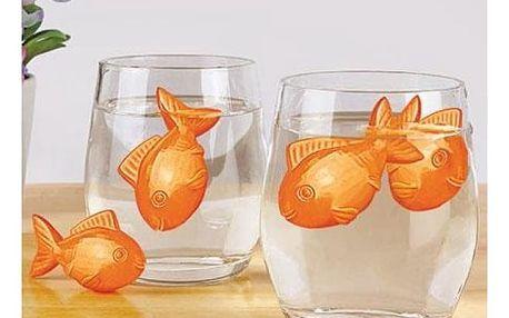 Ledové zlaté rybky do nápojů