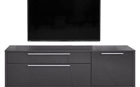 Gamble - TV stolek 570154 (antracit/antracit lesk)