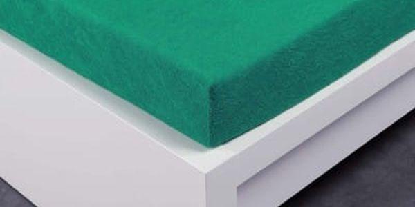 XPOSE ® Froté prostěradlo Exclusive jednolůžko - zelenkavá 90x200 cm