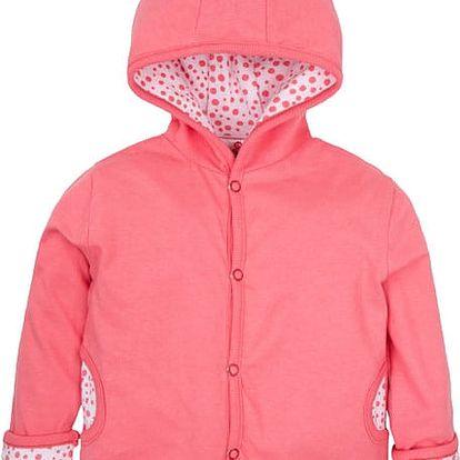 G-MINI Oboustranný kabátek Krteček a třešně B (vel. 68) - růžová