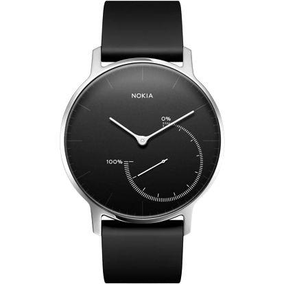 Nokia chytré hodinky Activité Steel - černá - HWA01-Black-All-Inter