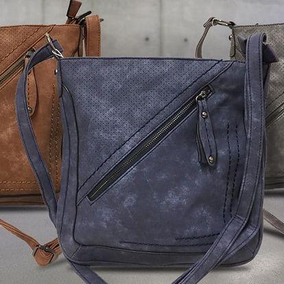 Dámské kabelky LUNA s efektem broušené kůže
