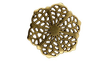 GREEN GATE Kovový podtácek Art deco gold, zlatá barva, kov