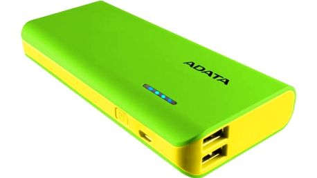Power Bank A-Data PT100 10000mAh (APT100-10000M-5V-CGRYL) žlutá/zelená