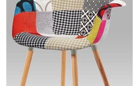 Jídelní židle patchwork / natural CT-723 PW2 Autronic