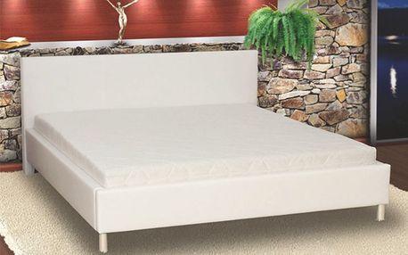 Elegantní manželská postel PUPP 180x200 cm vč. roštu