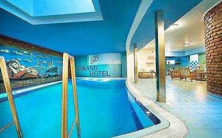 3denní romantický pobyt s bazénem v Grand Hotelu**** Třebíč na Vysočině pro 2 osoby