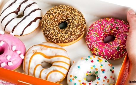 Pečené špaldové donuty s polevou - 2, 3 či 6 ks