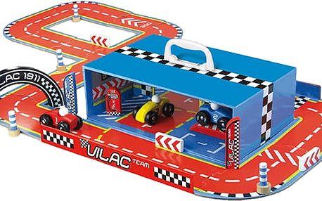 VILAC Zábavná hračka - Závodní dráha s auty v kufříku