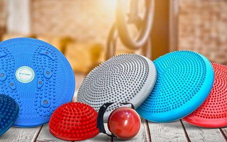 Masážní a balanční disk nebo další fitness pomůcky