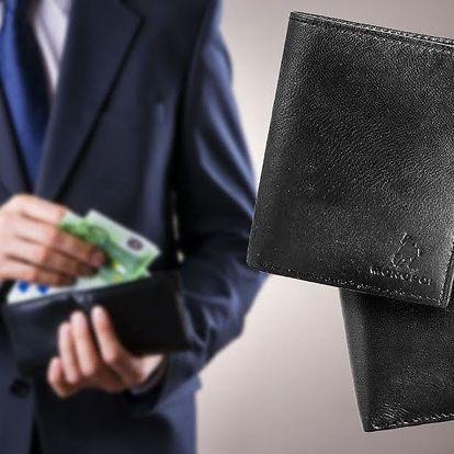 Elegantní peněženky a dokladovky z pravé kůže