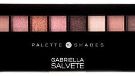 Gabriella Salvete Palette 10 Shades 12 g oční stín pro ženy 01 Rose