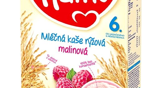 2x HAMI Kaše rýžová s malinami (225 g) - mléčná kaše