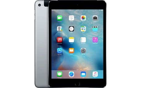 APPLE iPad Mini 4, Cell 128GB, Wi-Fi, šedá - MK762FD/A + Zdarma GSM T-Mobile SIM s kreditem 200Kč Twist (v ceně 200,-)