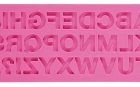 TESCOMA silikonové formičky DELÍCIA DECO, abeceda, růžová