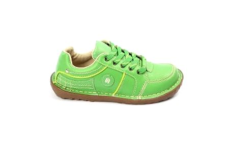 Kvalitní dámské kožené boty SUPER IN green