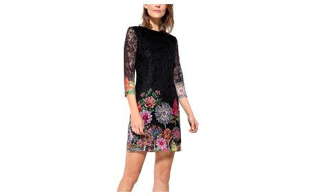 Desigual černé krajkované šaty Chipi