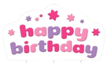 TESCOMA dortová svíčka DELÍCIA KIDS, Happy birthday, růžová