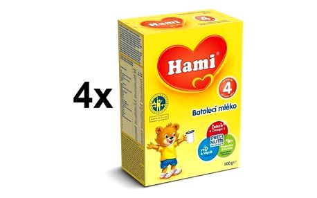 Kojenecké mléko Hami 4, 500g x 4ks + Doprava zdarma