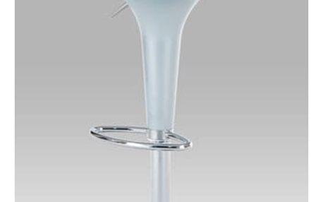 Barová židle AUB-9002 SIL - chrom/plast stříbrný