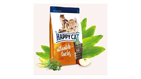 Granule HAPPY CAT ADULT Atlantik-Lachs / Atlantický losos 4 kg