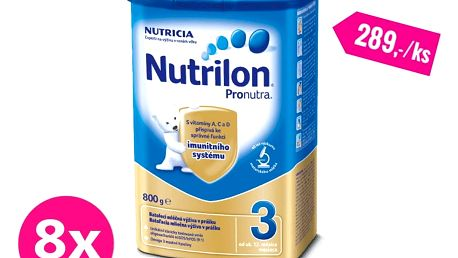8x NUTRILON 3 ProNutra (800 g) - kojenecké mléko