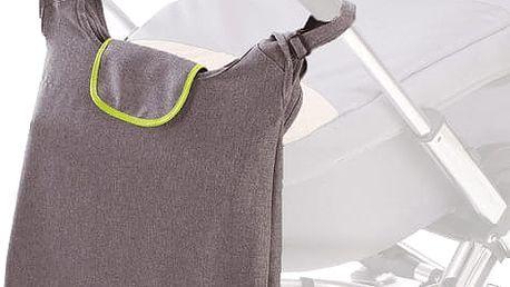 DIAGO Přebalovací taška Deluxe - šedá / zelená