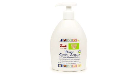 TRUDI BABY Dětské koupelové mléko a šampon - levandule a květ bezinky 500 ml