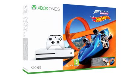 XBOX ONE S, 500GB, bílá + Forza Horizon 3 + Hot Wheels DLC - ZQ9-00211