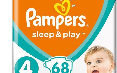 2x PAMPERS Sleep&Play 4 MAXI 68 ks (9-14 kg) JUMBO PACK - jednorázové pleny