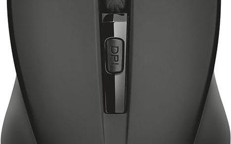 Trust Mydo, černá - 21869 + Podložka pod myš Trust Eco-friendly, zelená v ceně 230 Kč