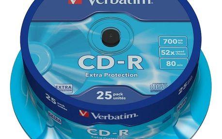 Verbatim CDR Extra Protection 52x 80 minut spindl 25ks - 43432