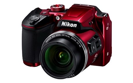 Digitální fotoaparát Nikon Coolpix B500 červený + DOPRAVA ZDARMA