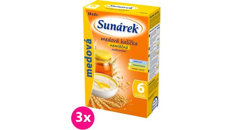 3x SUNÁREK Medová s 8 cereáliemi (180 g) - nemléčná kaše