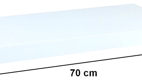Nástěnná police STILISTA VOLATO - lesklá bílá 70 cm