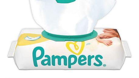 4x PAMPERS New Baby Sensitive s VÍČKEM 54 ks - vlhčené ubrousky