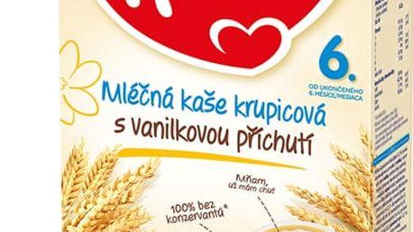 2x HAMI Krupicová s příchutí vanilky (225 g) - mléčná kaše
