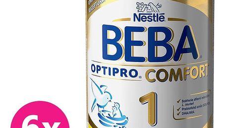 6x NESTLÉ BEBA OPTIPRO Comfort 1 (800 g) – kojenecké mléko