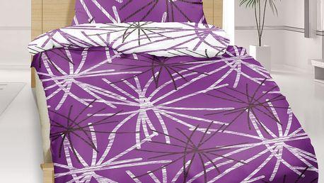 Bellatex bavlněné povlečení Hvězda fialová