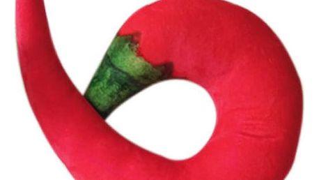 Originální polštář ve tvaru chilli papriky