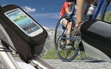 Voděodolné pouzdro na kolo pro váš smartphone a další nezbytnosti.