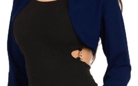 Elegantní společenské bolerko s dlouhým rukávem tmavě modrá