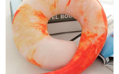 Originální polštář ve tvaru krevety Barva: Kreveta