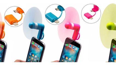 Praktický větráček, jehož použití už nemůže být jednodušší. Jednoduše zapojte do Vašeho chytrého telefonu a užívejte si příjemný studený vzduch.