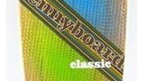 Penny board Nils Extreme Classic černý + Reflexní sada 2 SportTeam (pásek, přívěsek, samolepky) - zelené v hodnotě 58 Kč