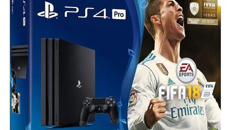 PlayStation 4 Pro, 1TB, černá + FIFA 18 Ronaldo Edition - PS719917267