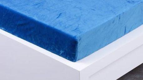 XPOSE ® Prostěradlo mikroflanel Exclusive jednolůžko - modrá 90x200 cm