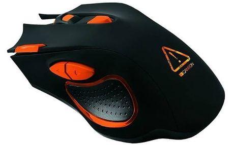 Myš Canyon Corax (CND-SGM5N) černá/oranžová + Podložka pod myš Canyon CNE-CMP2, 270 x 210 x 3 mm - černá v hodnotě 199 Kč + Doprava zdarma