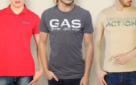 Pánská trička GAS, Just Cavalli a Trussardi